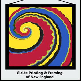 Logo for Giclée Printing & Framing of New England